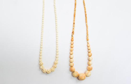 Ivory bead necklace, property of the U.S. Fish and Wildlife Service © WWF-US / Keith Arnold