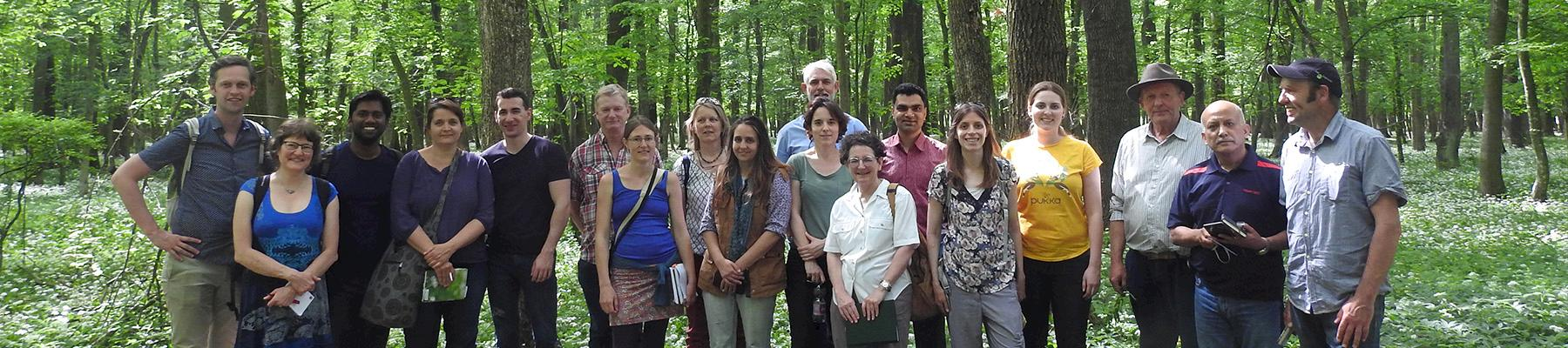 Participants of the FairWild Forum 2019 on the field trip to collections sites of Schmidt und Co., Hungary. Photo: Kirsten Palme / TRAFFIC
