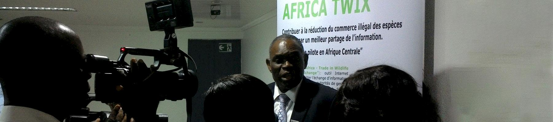 Paulinus interviewed at the launch of AFRICA-TWIX