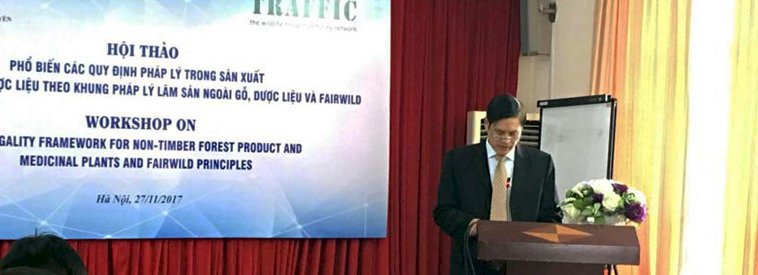 Mr Nguyen Ngoc TUAN, Deputy General Director of the Administration for Traditional Medicine addresses delegates © TRAFFIC
