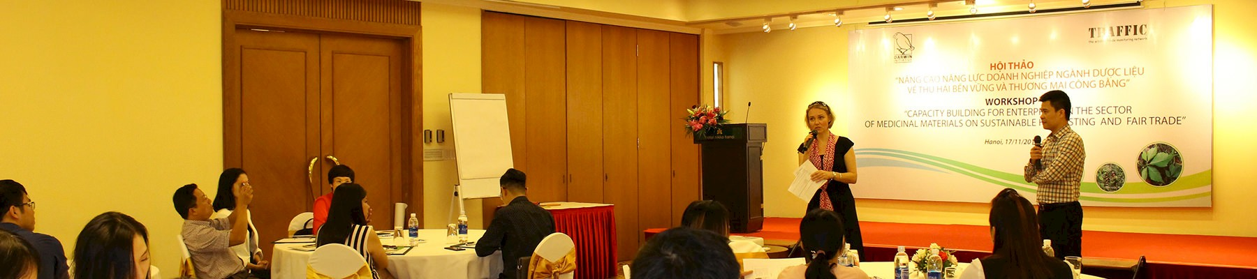 Madelon Willemsen, Director of TRAFFIC's Viet Nam office, addresses participants at the workshop
