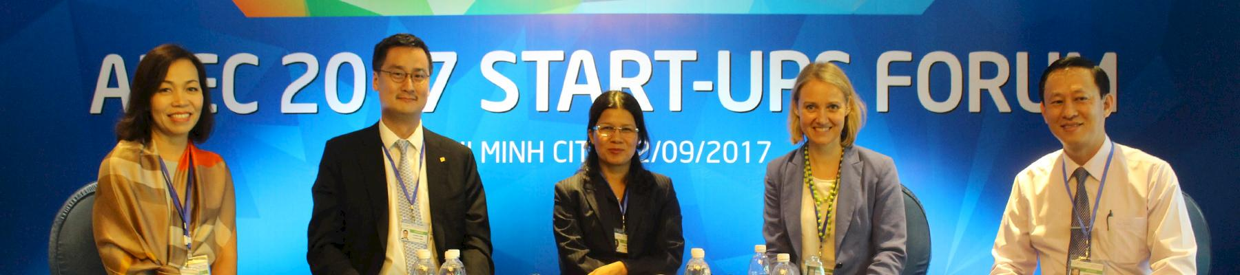 Panelists at the APEC Start-Up Forum, including Head of Traffic Viet Nam (2nd from right) © TRAFFIC