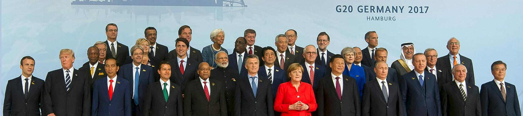 Heads of States and Government during a family photo at the G20 Leaders summit in Hamburg, Germany © GCIS / CC 2.0