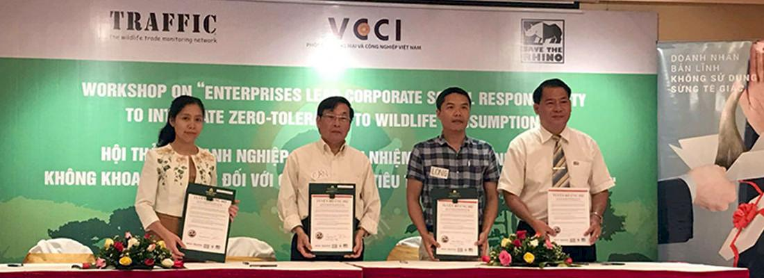 Private sector representatives pledge zero-tolerance to illegal wildlife consumption