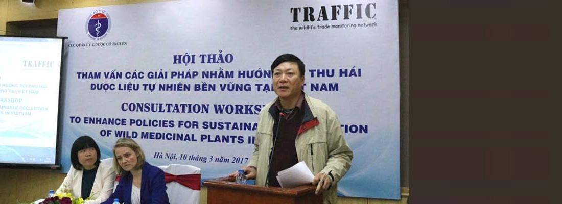 "Pham Vu Khanh, Director of the Administration of Traditional Medicine told delegates: ""We can improve the sustainable management of medicinal plants while improving the livelihoods of individuals that depend on these resources."" © TRAFFIC"