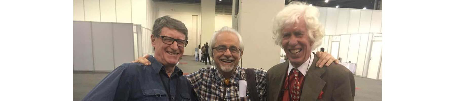 (l to r): Dan Stiles, Tom Milliken and Esmond Bradley Martin, photographed at CITES CoP17 in South Africa, 2016