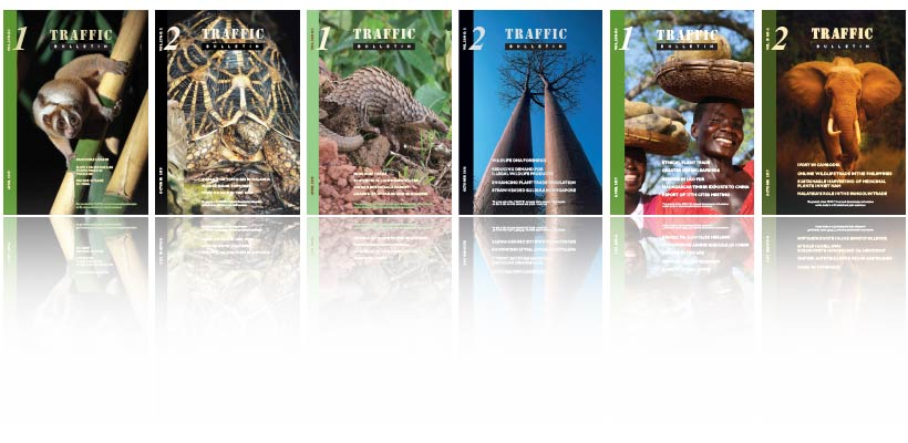 Some of the recent TRAFFIC Bulletin front covers
