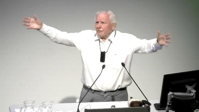 David Attenborough Gives a Closing Address
