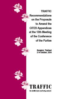 recommendations of proposals to amend the CITES appendices