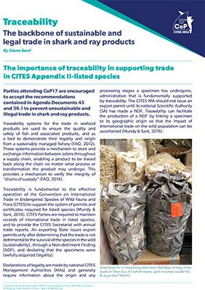 Traceability in supporting CITES-listed trade